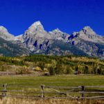THIRD PLACE 9.0 Good depth of field and color. For me there is to much sky and nothing that is interesting in the sky. I would crop down closer to the Tetons.